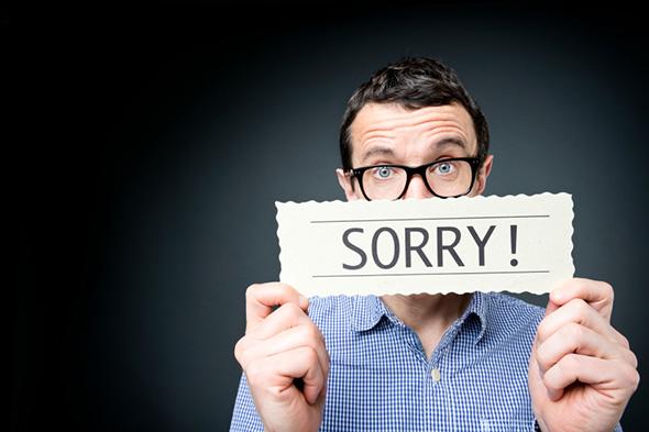 لطفا برای این اشتباهات, عذرخواهی نکنید!؟
